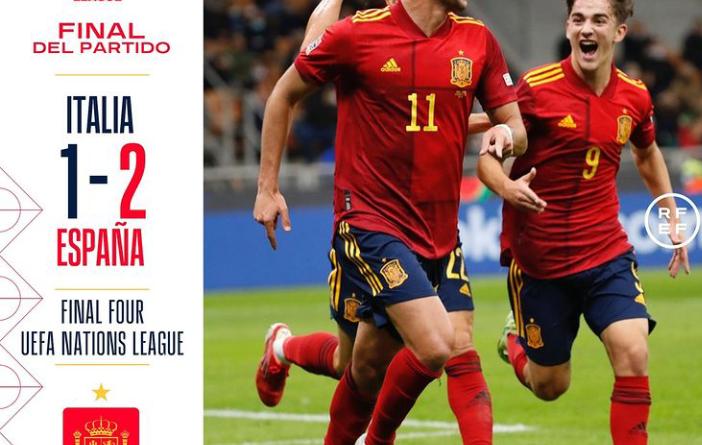 Spain ends Italy's 37-game unbeaten run