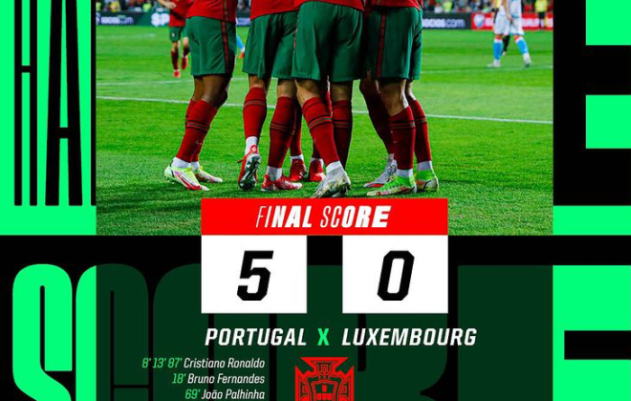 Ronaldo bags hat trick in emphatic win over Luxembourg